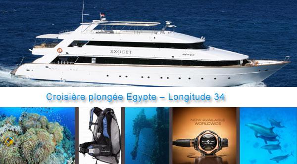 croisière plongée egypte longitude 34