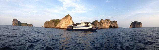 bateau croisière plongée thaialnde
